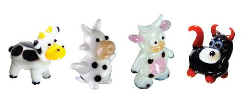 Looking Glass Miniature Collectible - Cow / Bull (4-Pack)