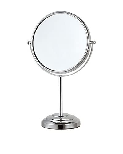 Nameek's Glimmer Round Freestanding 3X Mirror AR7724, Chrome