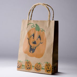 Halloween Brown Paper Gift Bag