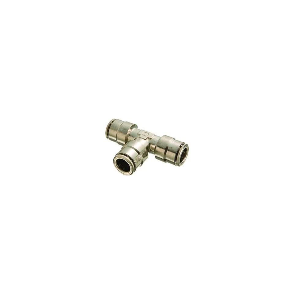 Plated Brass Push Connect,1164 Union Tee, Pack of 5