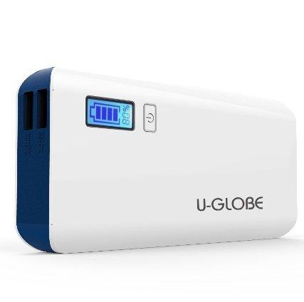 U-GLOBE 13000mAh Dual USB Power Bank