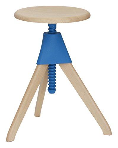Magis Jerry Hocker 50-66cm, blau Gestell Buche
