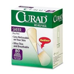 Medline Curad Regular Size Adhesive Bandages Sheer 80-Count