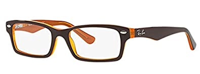 Ray Ban Junior RY1530 Eyeglasses-3588 Top Brown on Yellow-48mm