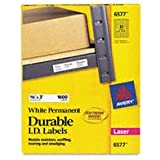 "Avery Dennison Durable ID Labels,Laser,Permanent,5/8""X3"",1600/Box,White"