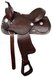 "16"" Double T Pleasure Style Saddle. (Black)"