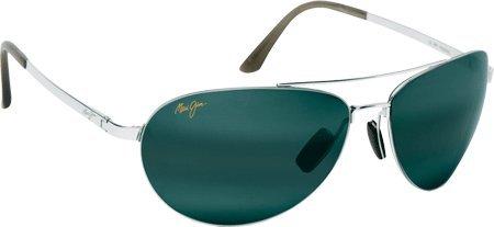 maui-jim-210-17-silber-pilot-aviator-sunglasses-polarised-lens-category-3