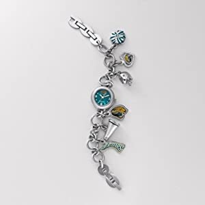 NFL Fossil Jacksonville Jaguars Ladies Stainless Steel Bracelet Charm Watch by Fossil