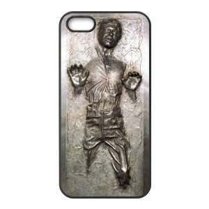 Personalized Custom Case - Han Solo Carbonite Frozen Star Wars Silicone Rubber Back Cover for iPhone 5/5S Including Dust Plug
