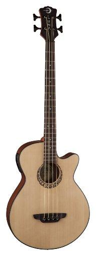 Luna Guitars Lab 30 Tribal Acoustic Bass Acoustic-Electric Guitar