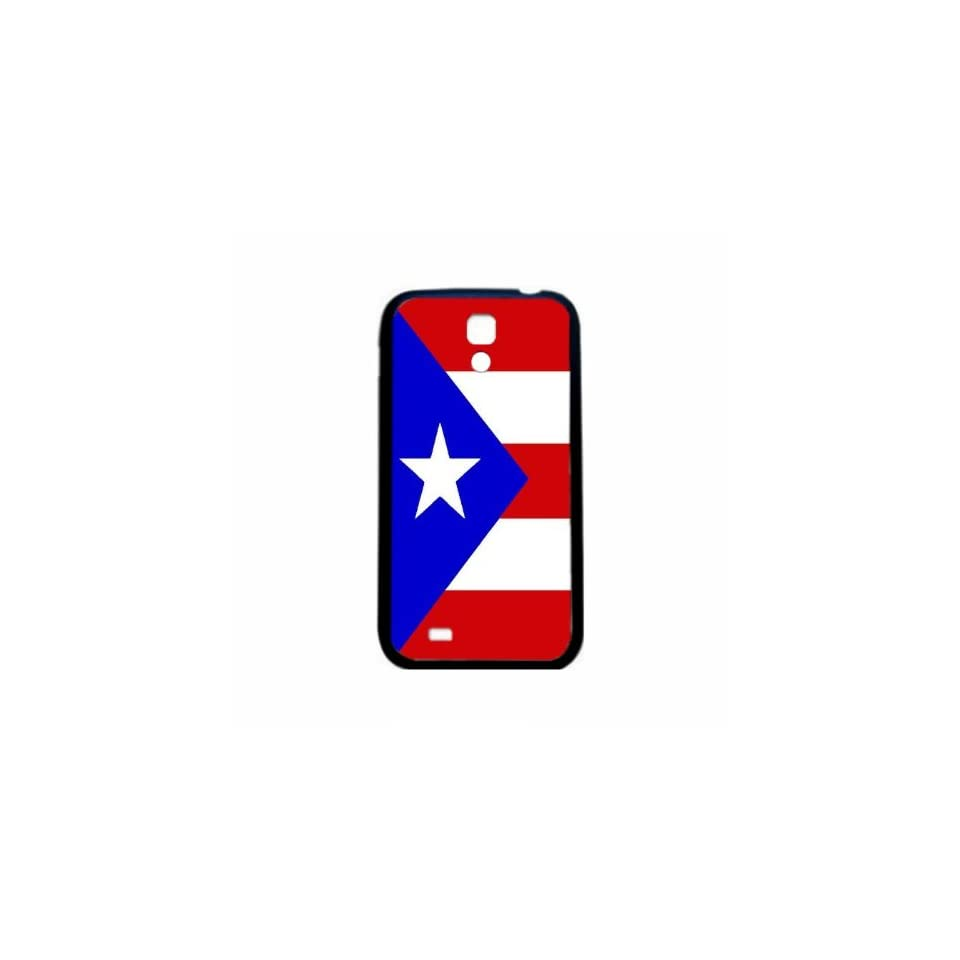 Puerto Rico Flag Samsung Galaxy S4 Black Silcone Case   Provides Great Protection
