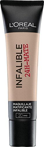L'Oréal Make Up Designer Paris Infallible 24H-Mat Fondotinta Lunga Tenuta, 20 Sable