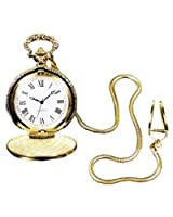 Pocket Watch With Chain Silver Prop