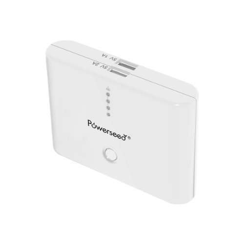 Powerseed Classic PS10000 White Power Bank USB Photo