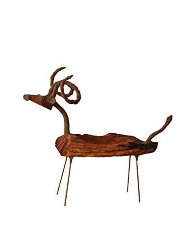 Asian Art Imports Goat Tray, Natural Wood
