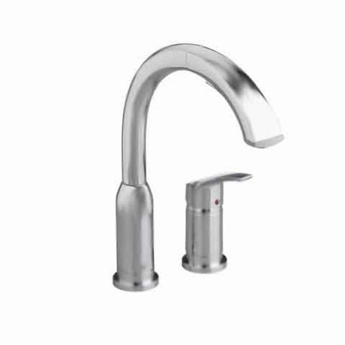 Cyber Monday Deals American Standard 4101.350.075 Arch Pull Out Brass body and Swivel Spout Kitchen Faucet, Stainless Steel