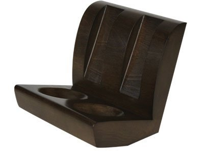 Tobacco Pipe Stand Furniture Walnut Finish with 2 Pipe Chair Stand