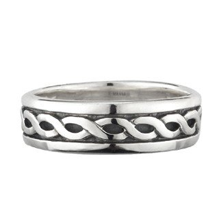 Sterling Silver Narrow Celtic Knot Band-Size 5-Made in Ireland