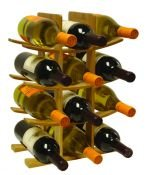 Bamboo Free Standing Wine Rack Holds 12 Bottles