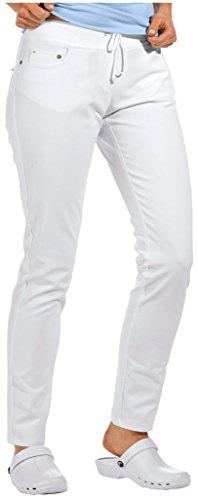 clinicfashion-Stretch-Jeans-Hose-Damen-wei-elastisches-Rippstrickbndchen-mit-Kordeltunnelzug-Baumwolle-Gre-38
