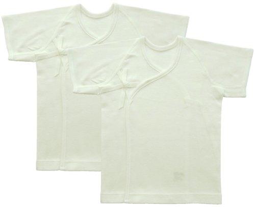 ベビーストーリー 2枚組スムース無地 短肌着 50cm 白 T20011 日本製