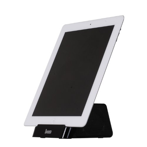 Portable Rechargeable Speaker Stand For Smartphones & Tablets: The New Ipad, Ipad 2, Iphone 4S, Iphone4, Asus Eee Pad Transformer, Motorola Xoom, Samsung Galaxy Tab, Galaxy 10.1, Galaxy Note, Samsung Galaxy S2 Phones And More (Color Option: Black)