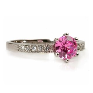 Hannah's Pink Cubic Zirconia Promise Ring - 6