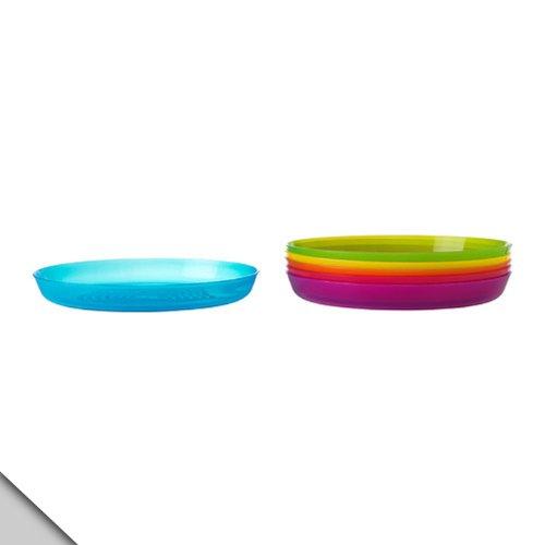Ikea - Kalas Plate, Assorted Colors (12 Plates)