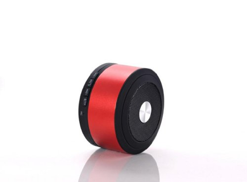Blue Melody Best Potable Mini Top Rated Stereo Travel Wireless Bluetooth Speaker For Apple Iphone Ipad Ipod Samsung Motorola Philips Laptop Sd Card Bl-N8 Red