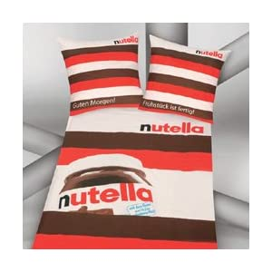 herding 443774050 nutella bettw sche 80x80 und 135x200 cm k che haushalt. Black Bedroom Furniture Sets. Home Design Ideas