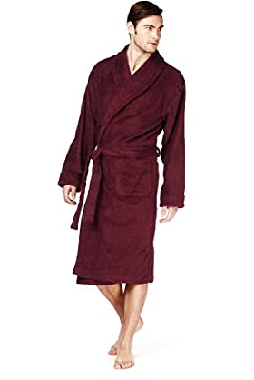 Cotton Rich Towelling Dressing Gown