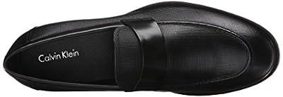 Calvin Klein Men's Sergio Stud Emboss Leather Slip-On Loafer