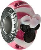 Authentic Chamilia Disney Minnie Murano - Pink Charm Bead Diso-3