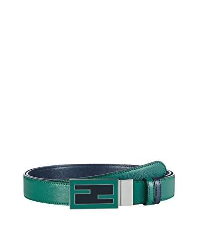 FENDI Cinturón Rojo / Gris