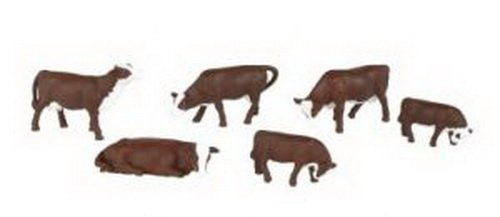 Bachmann Trains Cows- Brown and White
