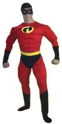 The Incredibles Costume Muscle Adult