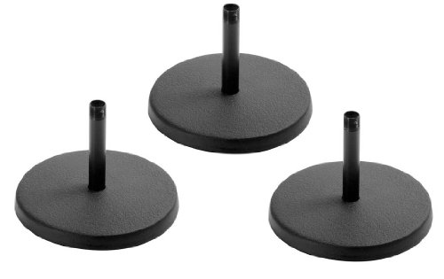 On Stage Ds7100B Basic Fixed Height Studio Desktop Microphone Stand - Black - 3 Pack