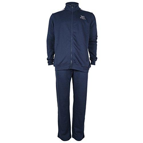 Nuovo alevros al collo Neck Sweat Top jogging con cerniera inferiore Plain tuta in pile blu navy L