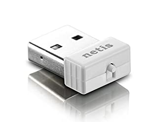 Netis WF2120 Wireless N150 Nano USB Dongle, Ideal for Raspberry, Windows, Mac OS, Linux, RTL8188CUS, Plug in and Forget
