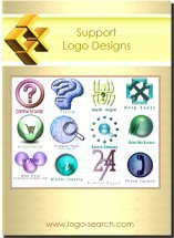 Support Logo Design Collection for Business Advertising, Marketing and Branding