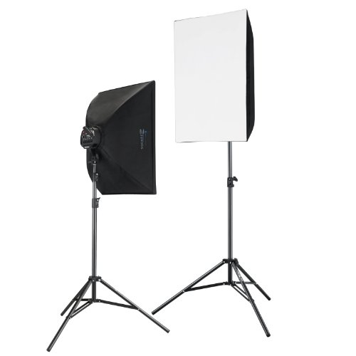 Square Perfect 2816 Professional Quality 2000 Watt Photography and Digital Video Continuous Light Kit with 2 Light Stands