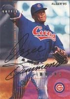 Ozzie Timmons Iowa Cubs - Cubs Affiliate 1995 Fleer Autographed Hand Signed Trading... by Hall+of+Fame+Memorabilia