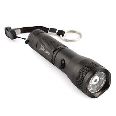 Sunoad Fx Small Sun Zy-560 7+1 Led Mid-Button Switch Flashlight Torch 1Xaa 7 White Light Led+1 Red Laser
