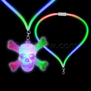 LED Flashing Lanyard - Skull