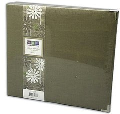 We R Memory Keepers We R Linen 3-Ring Binder, 12-Inch by 12-Inch, Avocado