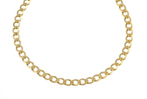 Necklace, 9ct Yellow Gold Curb Chain, 46cm Length, Model TGZ 115