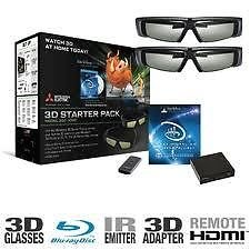 MITSUBISHI DLP TV 3DC-1000 kit with Glasses(4) and Superpower 8 mode Emitter