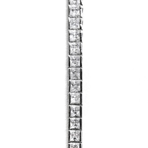 Tiffany Style Sterling Silver Tennis Bracelet