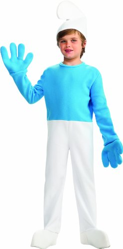 Smurfs Movie Deluxe Smurf Costume,Small 4-6 - 1