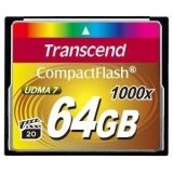Transcend Ultimate 64 GB CompactFlash (CF) Card - 1 Card
